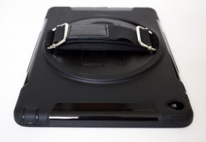 Apple iPad Umhänge Case Schutzhülle mieten Ansicht hinten Detail